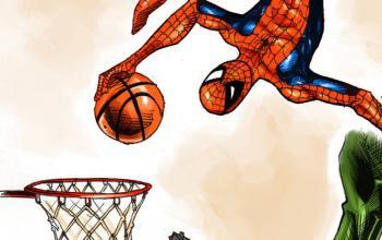 Loghi NBA ridisegnati in stile DC Comics e Marvel