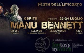 Festa dell'Unicorno – 2 giorni con l'attore Manu Bennett