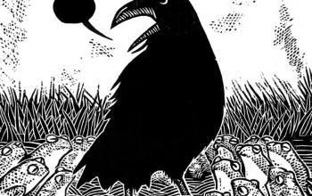 La leggenda del Re Corvo, una favola nera in xilografia