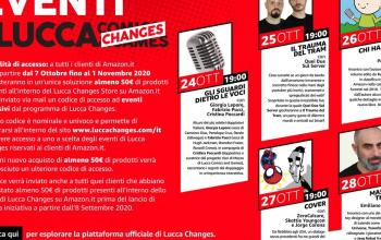 Lucca Changes: tutti gli appuntamenti per i clienti del Lucca Store di Amazon.it