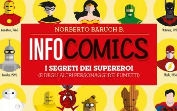 È in libreria e fumetteria Infocomics, la vita di eroi e supereroi raccontata con le infografiche