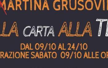 Dalla carta alla tela, a Milano la prima mostra di Martina Grusovin