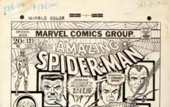 Il disegno originale della copertina di Amazing Spider-Man 121 venduto a un prezzo record