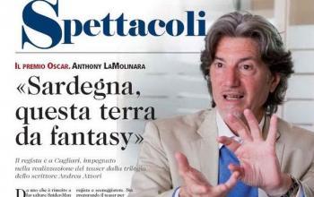 Il premio Oscar Anthony LaMolinara e l'autore Andrea Atzori per una nuova produzione sui miti della Sardegna