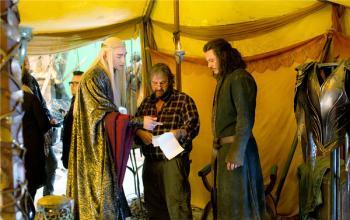 Una immagine dal set di Lo Hobbit: la battaglia delle cinque armate