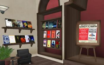 George R. R. Martin legge Dreamsongs su Second Life
