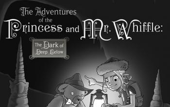 L'edizione Hardcover Deluxe del libro di Patrick Rothfuss The Adventures of the Princess & Mr. Whiffle: The Dark of Deep Below