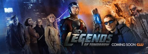 Banner promozionale della serie spinoff Legends of Tomorrow