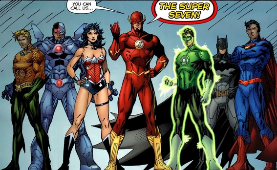 La Justice League de I Nuovi 52, illustrata da Jim Lee