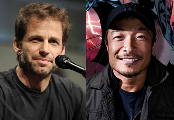 Da sinistra a destra: Zack Snyder e Jim Lee