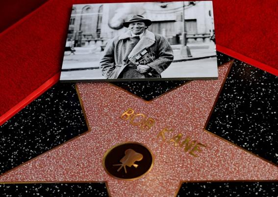 La stella dedicata a Bob Kane al 6764 di Hollywood Boulevard