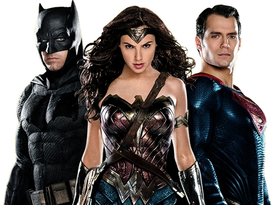 La Trinità: Batman (Ben Affleck), Wonder Woman (Gal Gadot) e Superman (Henry Cavill)