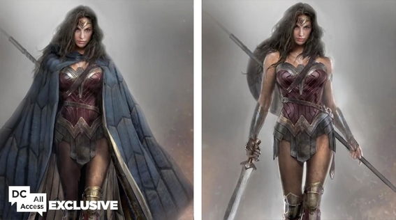 Concept art di Wonder Woman per Batman v Superman: Dawn of Justice (esclusiva di DC All Access)