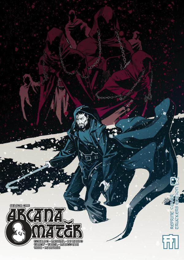 la copertina della ristampa di Arcana Mater
