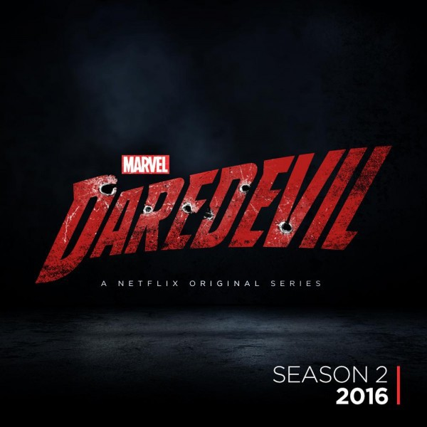Il logo della seconda stagione di Daredevil