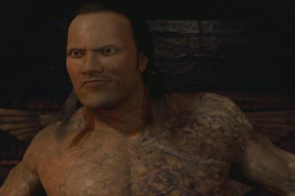 L'apoteosi della brutta CGI che ritrae un indegno Re Scorpione con le fattezze di The Rock