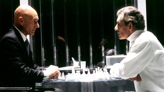 Professor X (Patrick Stewart) e Magneto (Ian McKellen) in X-Men 2