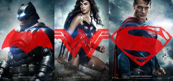 I tre character poster principali di Batman v Superman: Dawn of Justice
