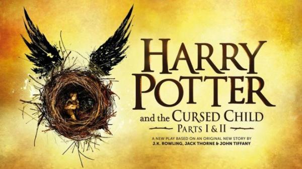 La locandina dello spettacolo teatrale di Harry Potter and the Cursed Child