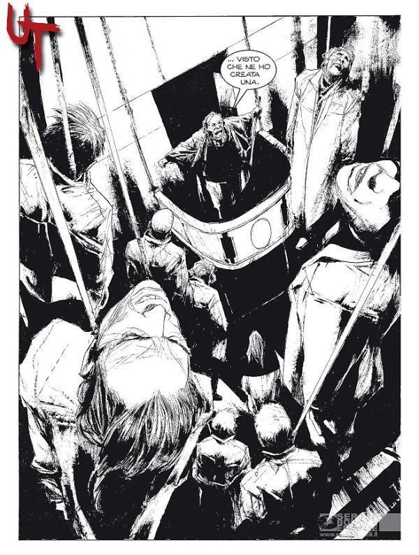Splash page di UT disegnata da Corrado Roi