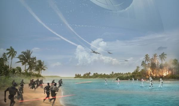 Un dettaglio del poster di Rogue One: A Star Wars Story