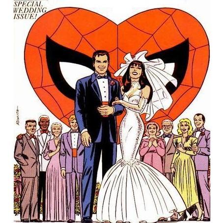 Il matrimonio di Peter e Mary Jane (disegno di John Romita)