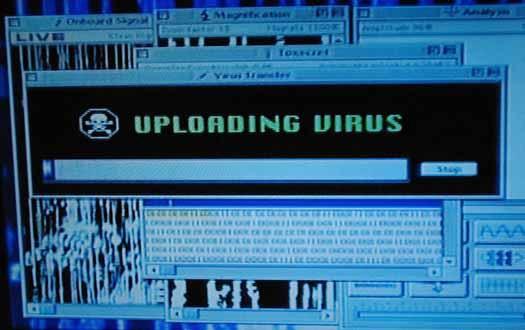 """L'""""avanzatissimo"""" sistema operativo della nave aliena di Independence Day."""
