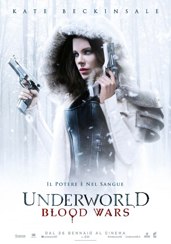 Kate Beckinsale nel poster di Underworld - Blood Wars