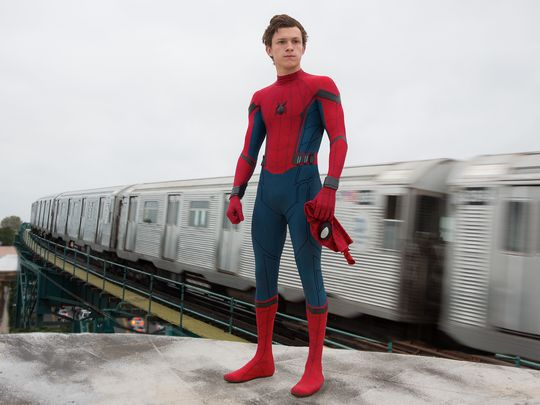 Peter Parker (Tom Holland) in Spider-Man: Homecoming. Foto di Chuck Zlotnick.