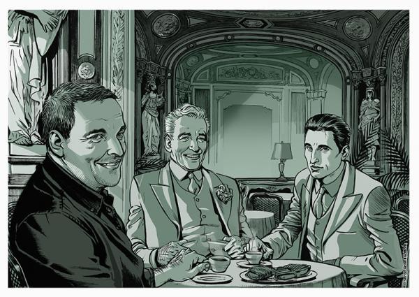 Maurizio De Giovanni in versione a fumetti con il Commissario Ricciardi -© Sergio Bonelli Editore
