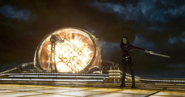 Zoe Saldana in Guardiani della Galassia Vol. 2