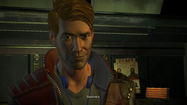 Star-Lord inMarvel's Guardians of The Galaxy: The Telltale Series
