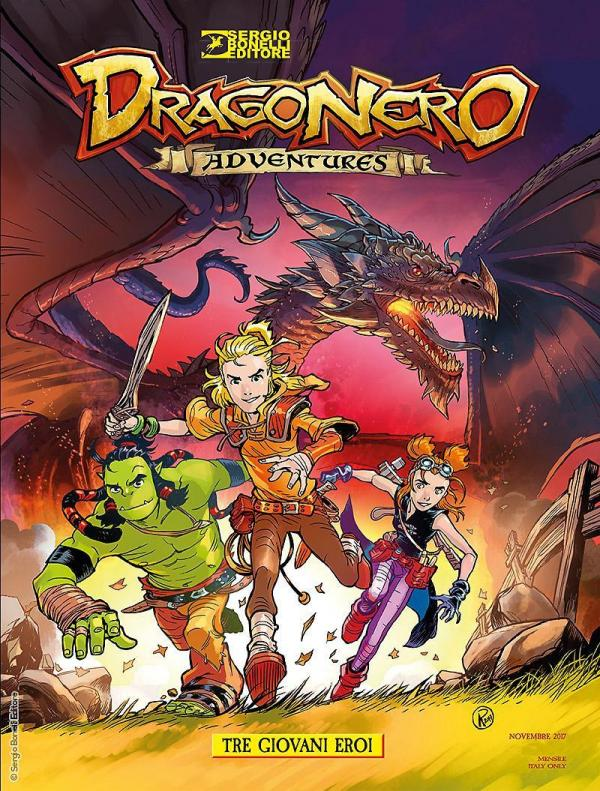 La copertina del primo volume di Dragonero Adventures. [Fonte: Sergiobonelli.it]