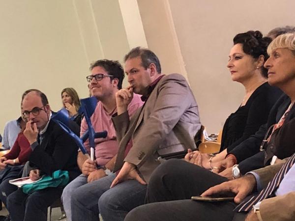 Pubblico nell'Aula Magna dell'Università di Napoli - Foto di Claudia Graziani