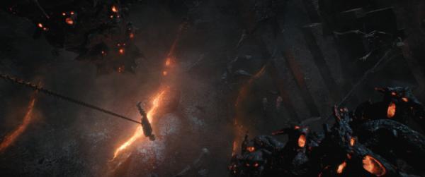 Thor fronteggia Surtur