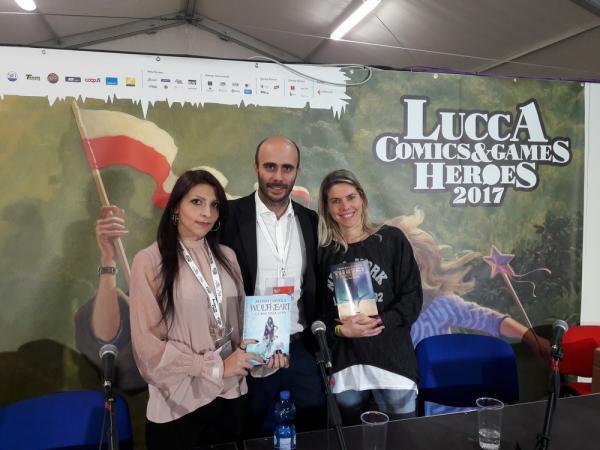 Alessia Coppola, Gianni La Corte e Francesca Caldiani a Lucca Comics & Games