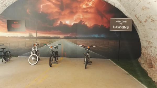 Le biciclette originali, per fuggire dal mostro!