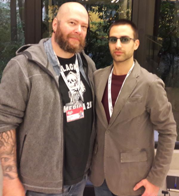 Jason Aaron con il nostro redattore Simone Bonaccorso a Lucca Comics & Games