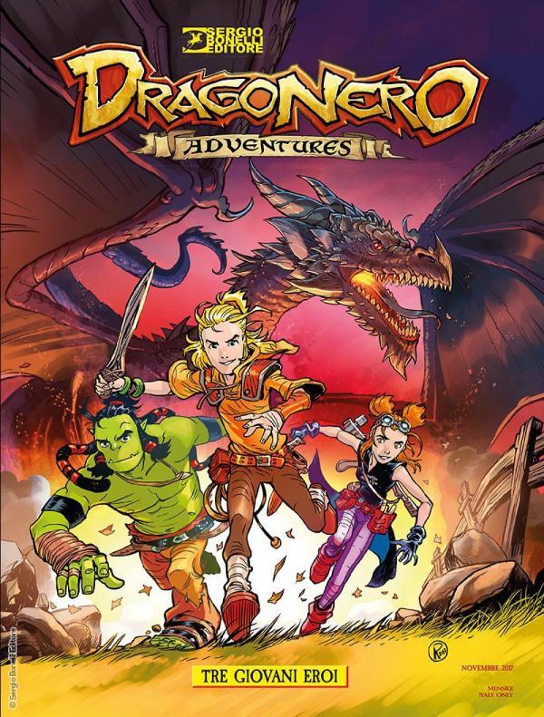La copertina di Dragonero Adventures