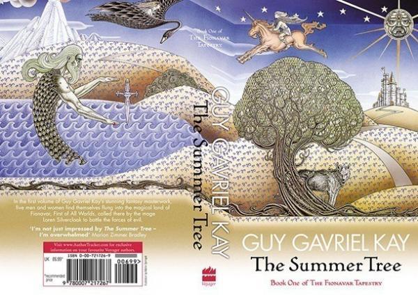 La copertina di The Summer Tree di Guy Gavriel Kay illustrata da Martin Springett