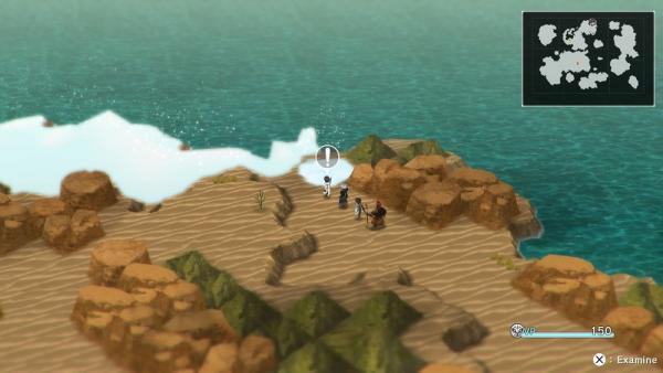 L'overworld con i protagonisti di fronte alla nebbia magica. Esiste di sicuro un incantesimo per dissolverla ed esplorare il resto della mappa. [Fonte: screen scattato da Maurizio Carnago]