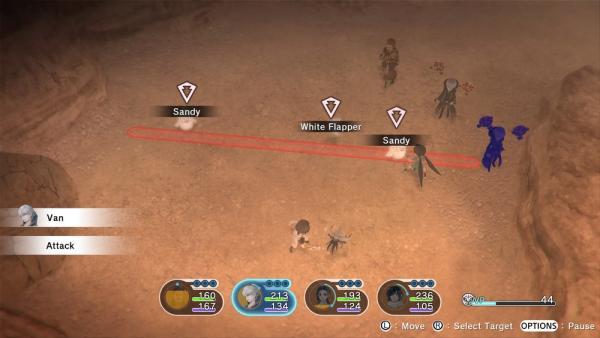 Come in una partita a scacchi, il personaggio di Van si è posizionato in una zona strategica per colpire tre avversari con una sola mossa. [Fonte: Screen di Maurizio Carnago]