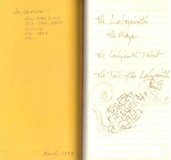 Le prime pagine del taccuino di Jim Henson