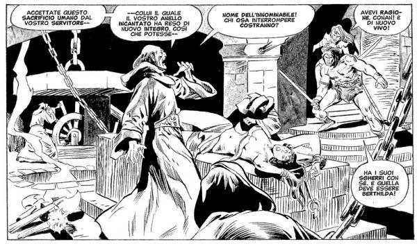 Una vignetta di John Buscema con chine diPablo Marcos in La maledizione del non-morto