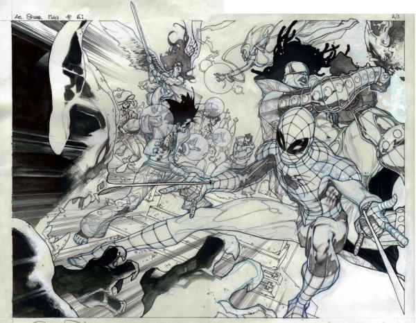 Spider-Man. Disegno di Simone Bianchi