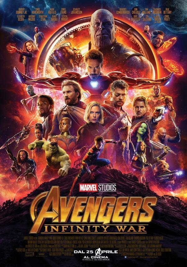 Il poster ufficiale italiano de <i>Avengers: Infinity War</i>. [Fonte: Comunicato stampa]