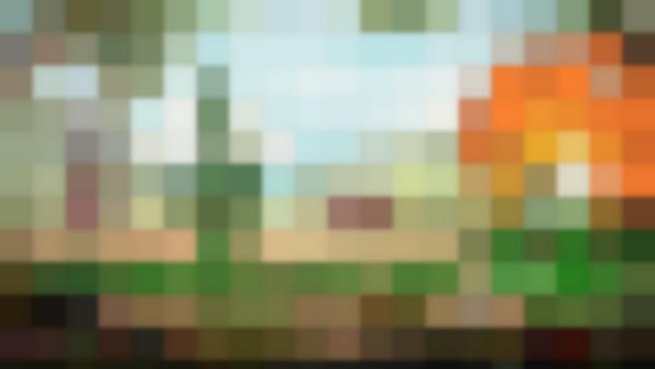 Il combattimento contro un boss di <i>Cuphead</i>. Per mantenere coerenza con lo stile anni Trenta, non mancano la grana e i segni della pellicola usurata. Ogni elemento che non faccia parte dello sfondo va immaginato in movimento frenetico e impegnato a uccidere l'avatar del giocatore.
