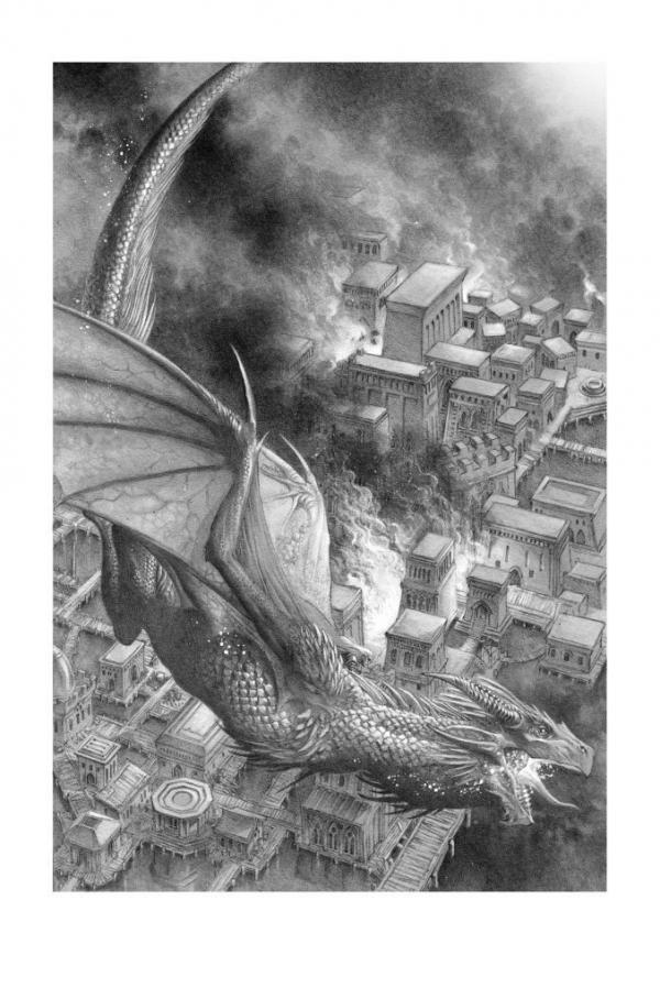 Una delle illustrazioni di Doug Wheatley per Fire and Blood