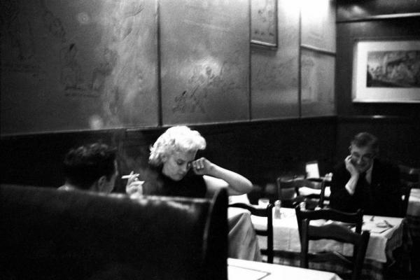 Marilyn Monroe al Costello's, nel 1955. Foto di Ed Feingersh / Michael Ochs Archives. (Fonte: Getty Images)