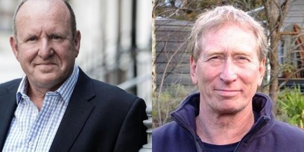 Da sinistra: Ian Livingstone e Steve Jackson. Foto dai loro profili twitter.